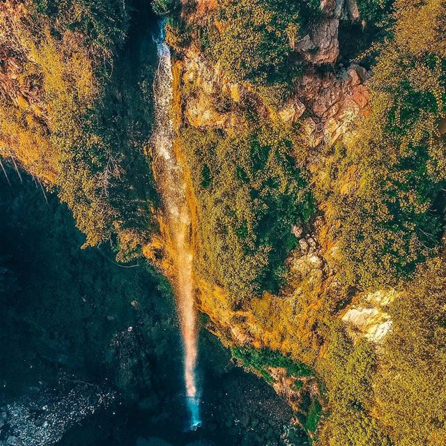 The beautiful waterfalls of Kfarhelda; North of Lebanon 🇱🇧 Drone: DJI... (Kfarhilda, North)