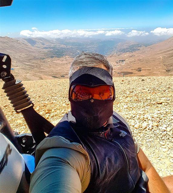 Selfie above the clouds selfie me fun adventure qornetelsawda cedars... (Qurnat as Sawda')