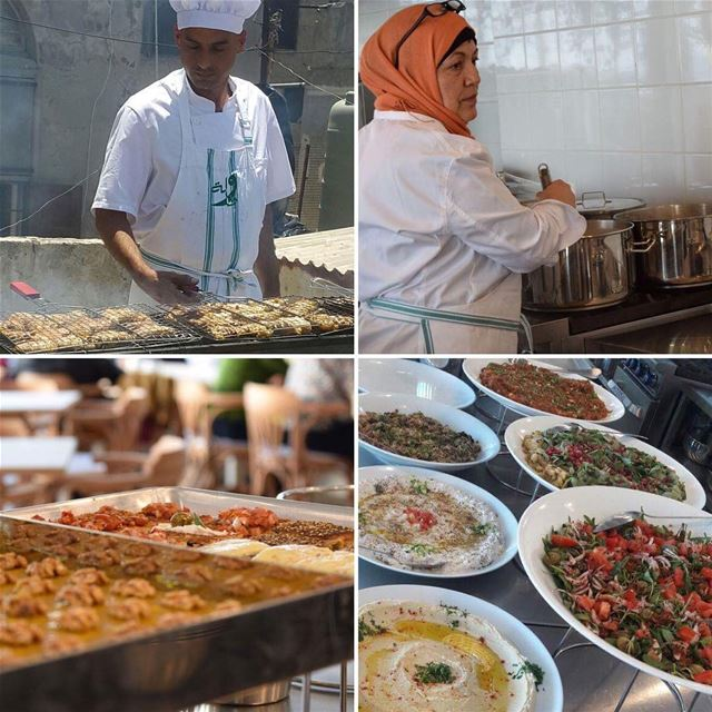 Tawlet Saida team is fully focused on preparing today's traditional...