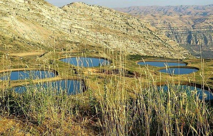 wonderful view 🏞🌞 lake laqlouq mountains sunset plants landscape... (El Laqloûq, Mont-Liban, Lebanon)