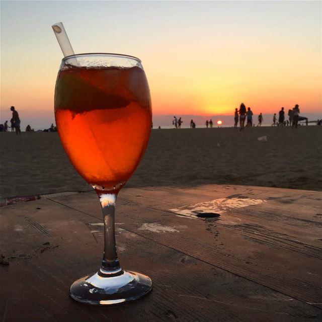 Paradise... lebanon sour beach paradise sunset sunsetlover drinks...