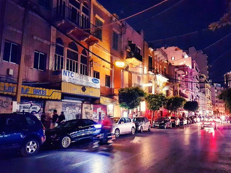 On the Strip nighttime marmikhael beirut lebanese urban night ... (Beirut, Lebanon)