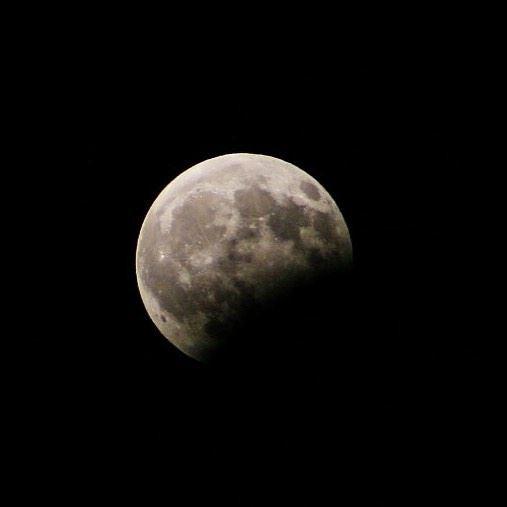 Partial lunar eclipse, August 7 🌙 moon moonlight lunareclipse eclipse... (Beït Hbâq, Mont-Liban, Lebanon)