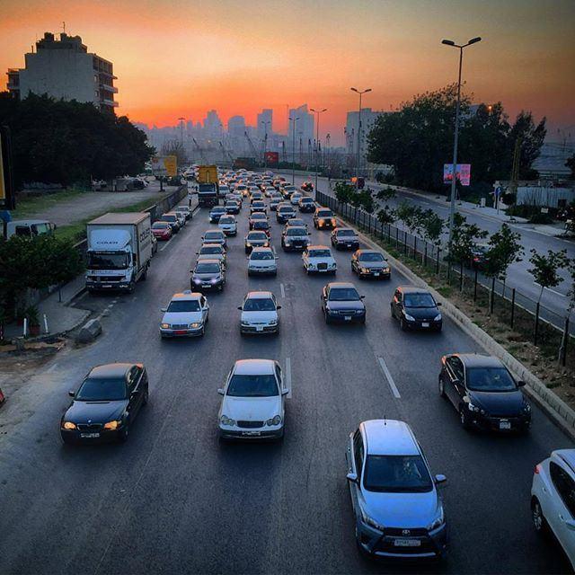Friday afternoon traffic by @samerabah livelovebeirut (Beirut, Lebanon)