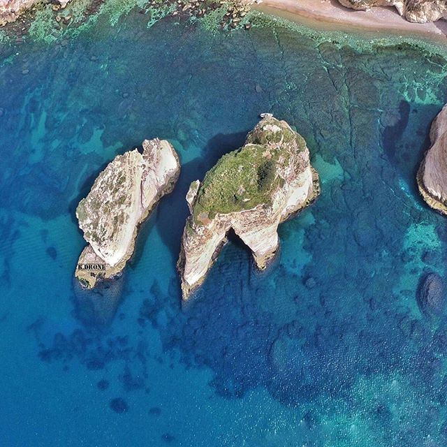 Raouche as seen from the Eagle's eye by our pilot @michokhoury (Raouché)