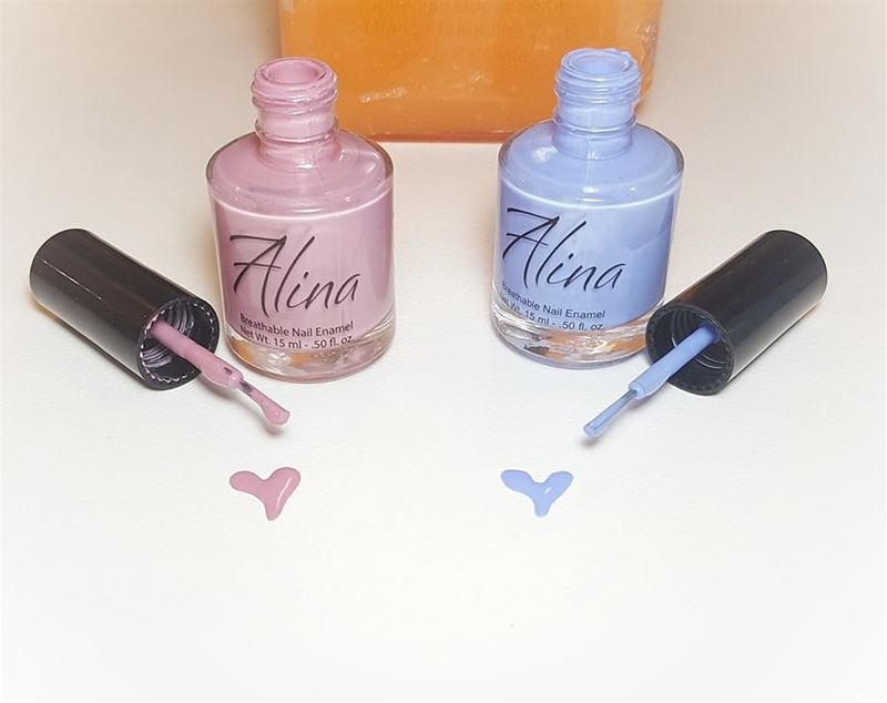 Choose ur heart 💙💟 new colors (alina breathable and organic nailpolish)... (MUREX Beauty Therapy)