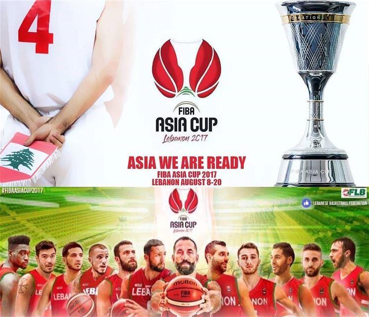 FIBAASIACUP2017 LEBANON YallaLebnen !! 🇱🇧🏀
