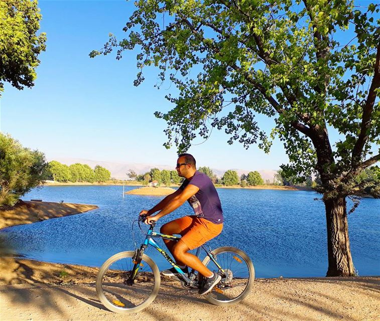 Life is like riding a bicycle. To keep your balance, you must keep... (Deïr Taanâyel, Béqaa, Lebanon)
