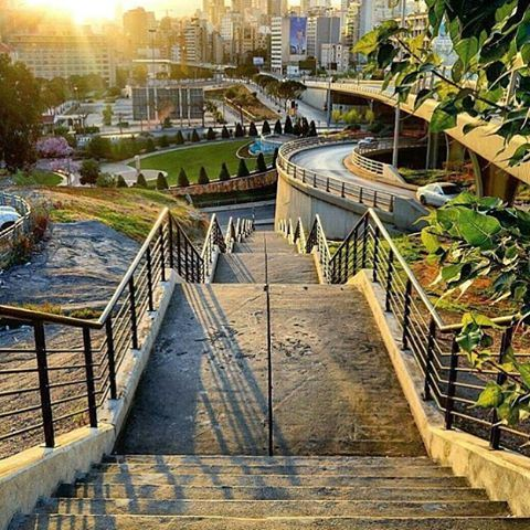 Morning stairs of Beirut by @el_dayeh livelovebeirut (Escwa)