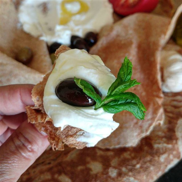 Having labneh and trimmings for dinner does not bother me one bit! labneh... (Beirut, Lebanon)