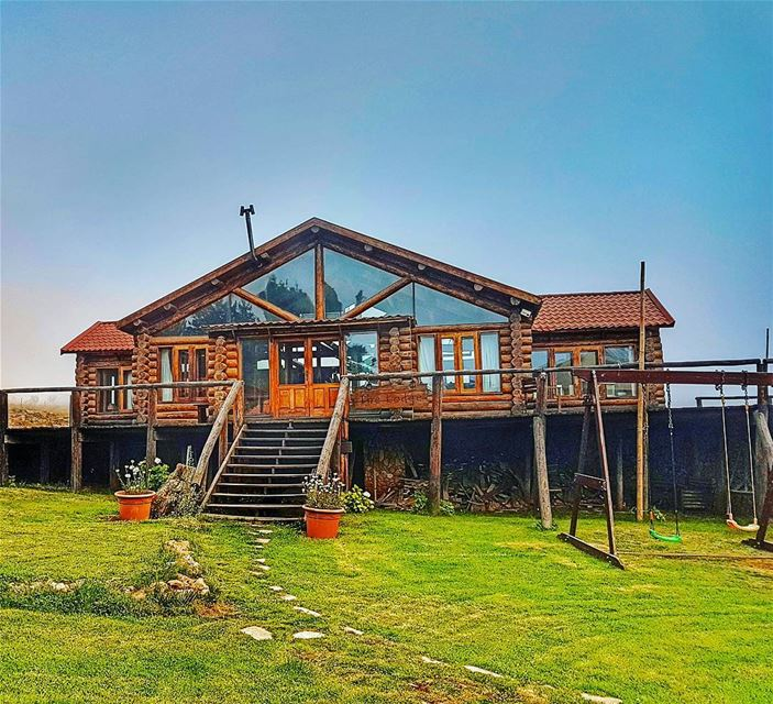 Retreats like this cabin mountains mountainsoflebanon cedars ... (L'Auberge des Cedres)