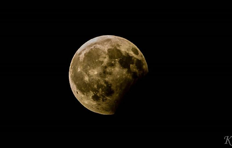 Lunar eclipse that happened monday 7/8/2017 at 10:10pmPhoto taken using...