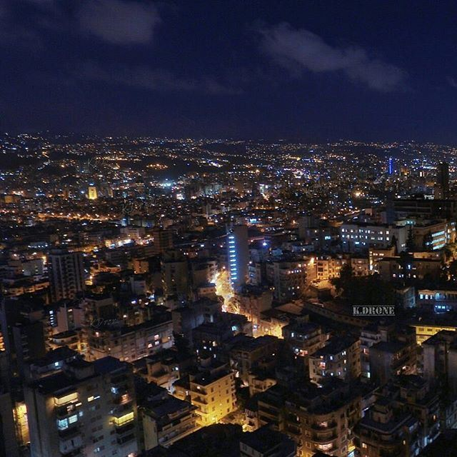Sweet dreams Beirut... By our pilot @michokhoury