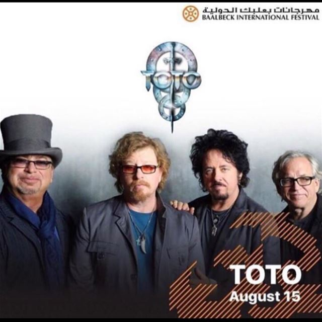 Legendary American rock band TOTO closing our 2017 cycle on Tuesday august...