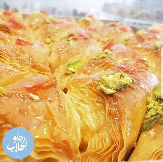 شعيبيات بالحليب المطبوخ أو بالقشطة 😍😁👌 The yummiest sheaibeyat in town... (Abed Ghazi Hallab Sweets)