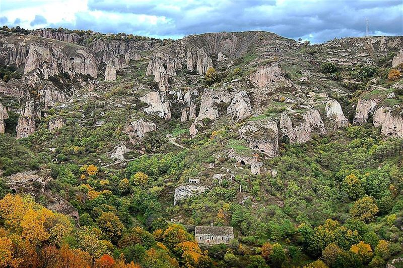 Colorful Armenia Hiking Trip 29 Sep until 9 Oct 2017.  Khndzoresk was...
