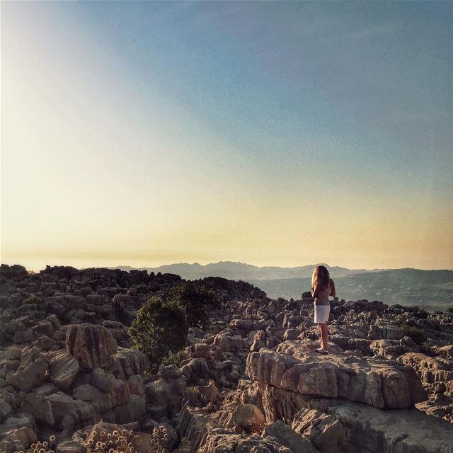 Enjoying the view ... @vitalina.a LiveLoveBaskinta LiveLoveSannine ... (Qanat Bakish, Mont-Liban, Lebanon)