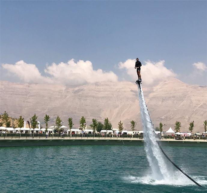 Keep ur head in the clouds ☁️ & ur feet on the flyboard flyboard flyhigh... (Zaarour Club)