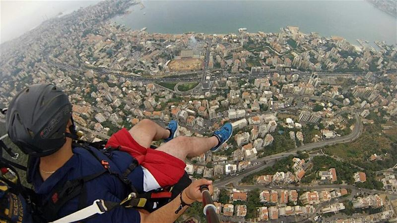 😍😍😍😍Paragliding over Jounieh BaySuch an amazing feeling... (Joünié)