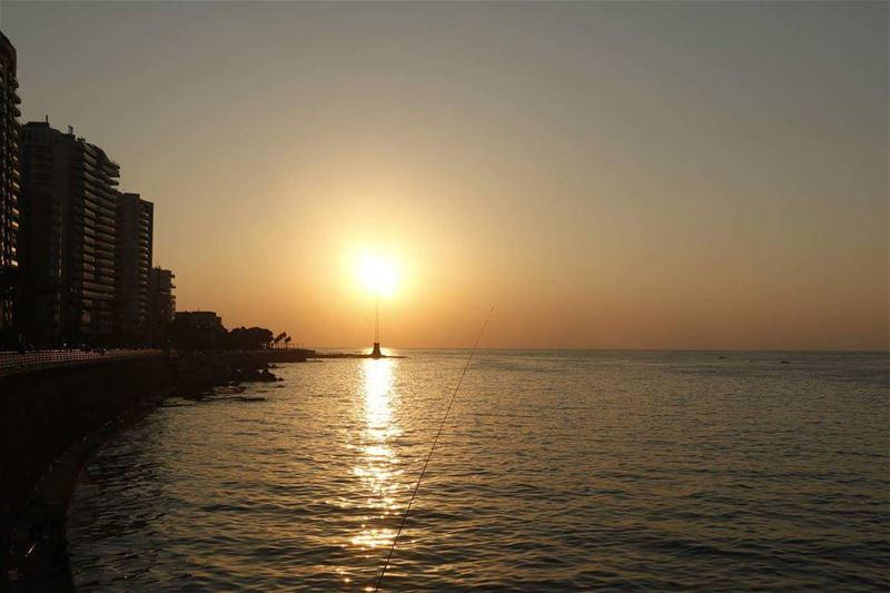 Candle at Corniche... candle sunset corniche seaside beirutsunset ... (Beirut, Lebanon)