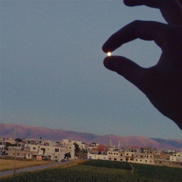 photography photographerlife photooftheday moon mountain mountains ... (El Marj, Béqaa, Lebanon)