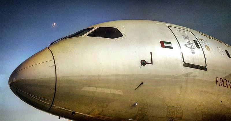 Biting the Bullet  firsttime  golden  dreamer  etihad  etihadairways ... (Abu Dhabi, United Arab Emirates)