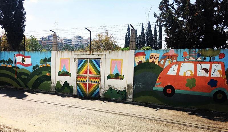 streetart streetphotography wallart bramiyeh saida mysaida ... (Bramiyé, Liban-Sud, Lebanon)