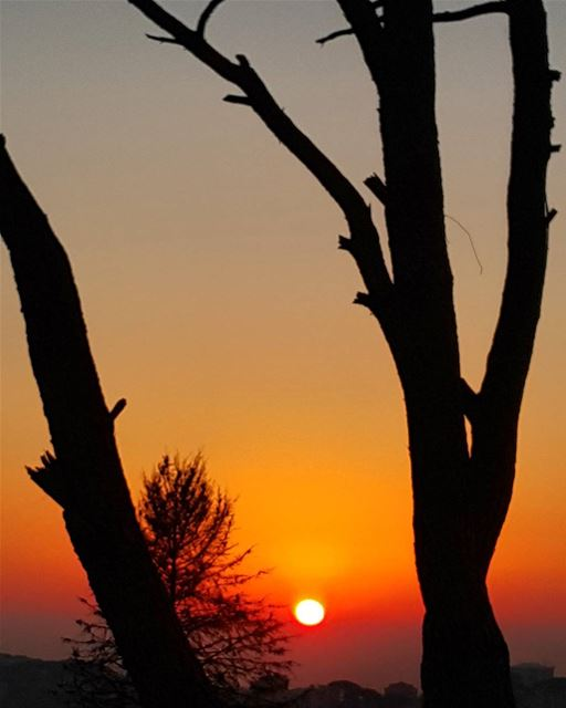 sun sunsetporn sunset ptk_sky silouette igsilhouette insta_lebanon ... (Deïr El Harf, Mont-Liban, Lebanon)