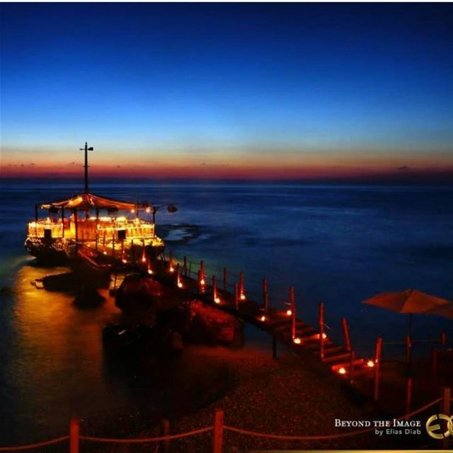 batroun  sunset  kaptn  beach  restaurant  beachbar  sea ... (Kaptn)