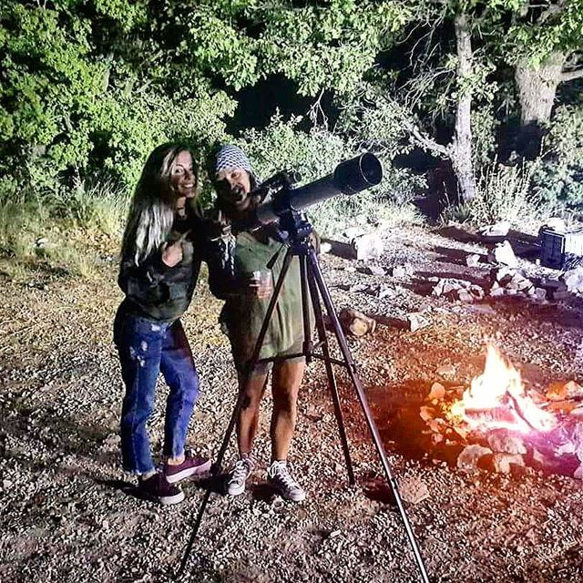 Good friends are like stars💗 camping camping2017 fire campfire ... (Ehden, Lebanon)