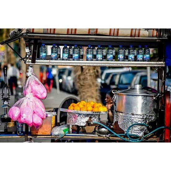 beirut  corniche  woman  vendor  candy  orange  water  juice  street ...
