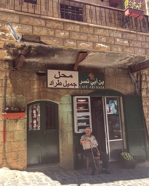 The story of Mr Jamil Trad who grew older while protecting his own shop,... (Ehden, Lebanon)