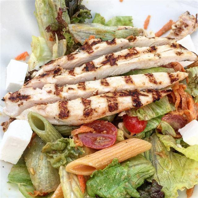 yummy chicken salad fetacheese pasta lebanon ...