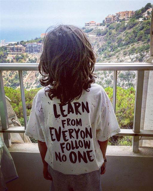 Learn from everyone follow no one . meditation enjoying amazingview ... (جونية - Jounieh)