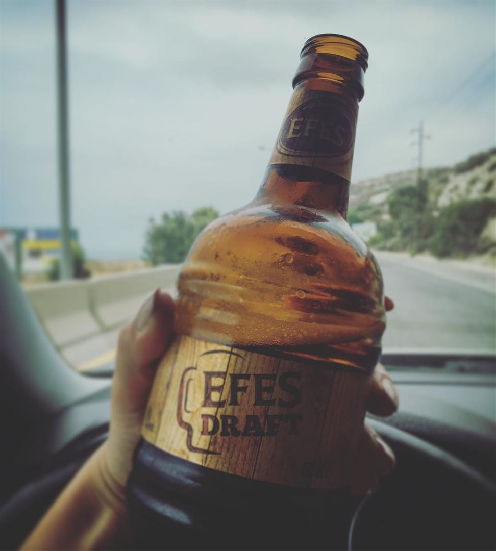 Don't drink and drive efes beer car lebanon dayout with him ...