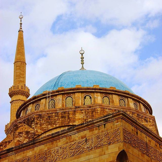 The Mohammad Al-Amin Mosque', also referred to as the Blue Mosque is a mosque located in downtown Beirut, Lebanon. (Mohammad Al Amin Mosque)