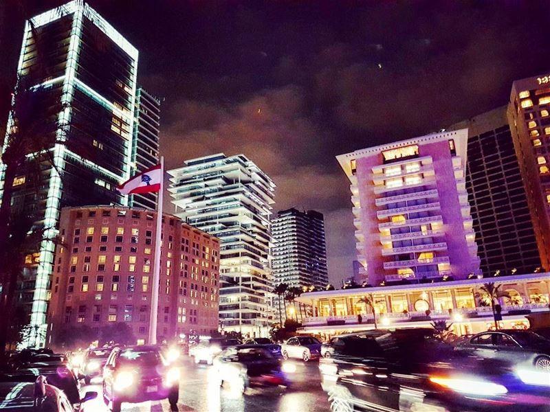 Horny soundandvision downtown traffic citylights citylife streetlife... (Beirut, Lebanon)