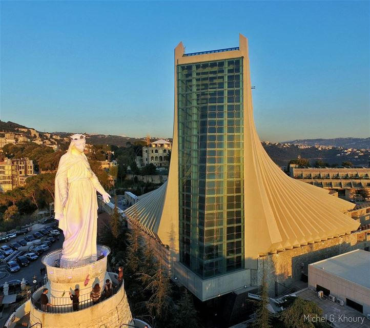 Our LADY of LEBANON ❤... AboveLebanon Lebanon LiveLoveBeirut ...