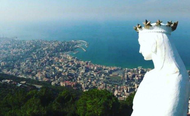 إنتو وزعلانين بتقولو يا عدرا وإنتو مبسوطين بتقولو يا عدرا ..العدرا تحميكن و (Harîssa, Mont-Liban, Lebanon)