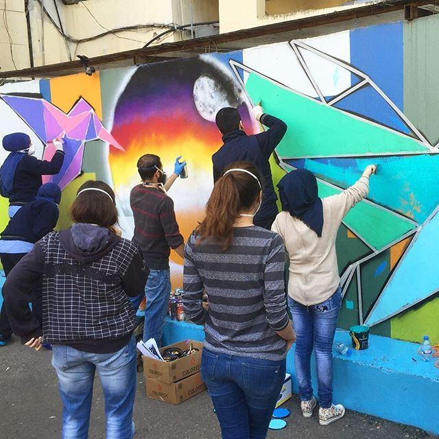 For the last 3 weeks, @Dihzahyners has been putting together a series of free and exciting Paint Up workshops and initiatives for the residents of Naba'a & Bourj Hammoud. @livelovebh (Nabaa)