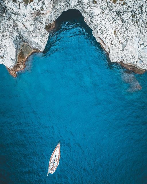 Let's set sail and go explore the world ⛵️Photo taken with the @djiglobal... (Batroûn)