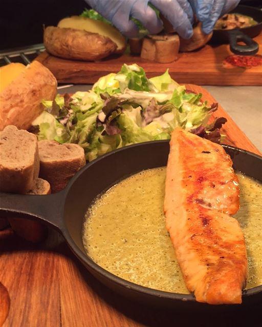 Swiss Butter ✔️ .. salmon meat chicken eat travel explore beirut ... (Swiss Butter)