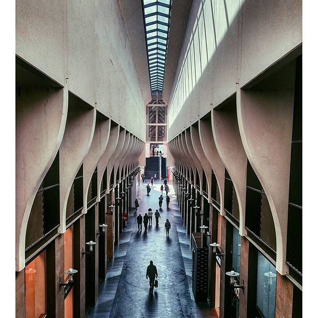 People and their shadows @livelovearchitecture by @pamhachem (Beirut Souks)