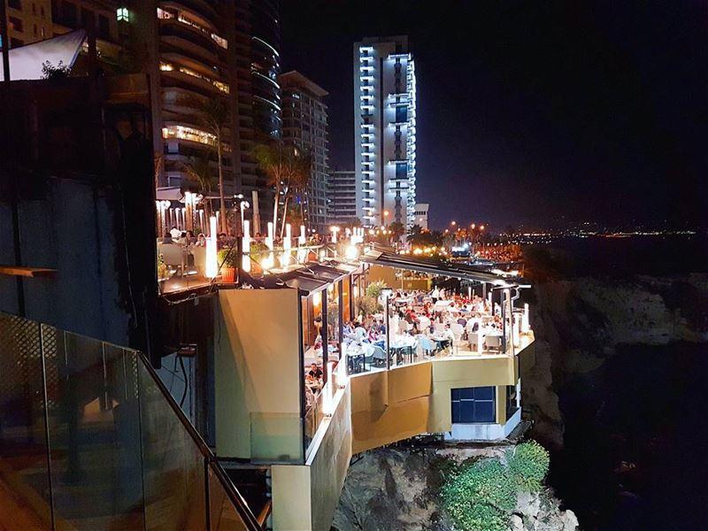 Rocking It hanging ontheedge mediterranean sea citylife streetlife ... (Beirut, Lebanon)