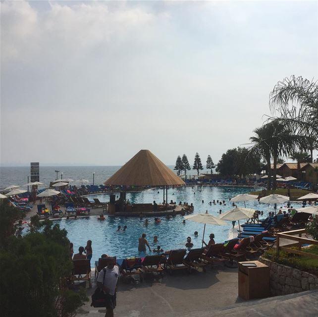 lebanon mediterranean pool summer igers instalike whatsuplebanon ... (Palapas Beach & Resort)