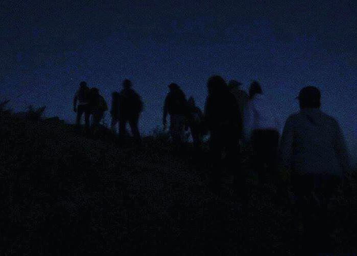 Just before sunrise 🌄 people hiking mountains trail ... (Kfardebian,Mount Lebanon,Lebanon)