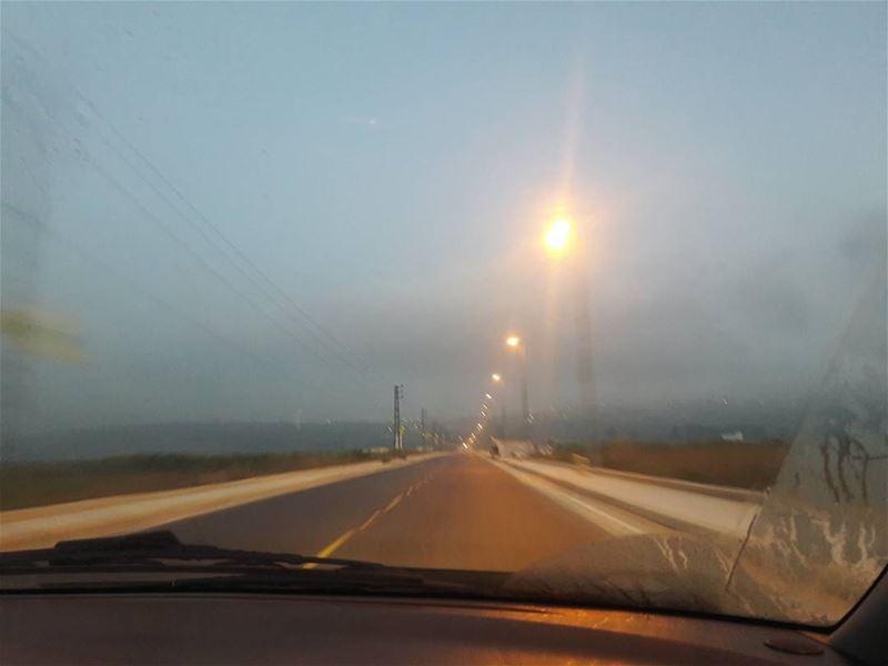 khiam at 5:30 ❤ way to beirut khiam village morning fog breeze ... (Al Khiyam, Al Janub, Lebanon)