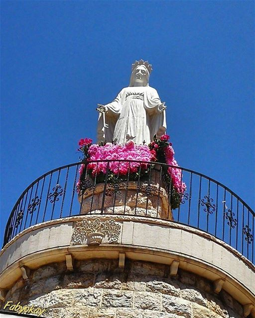 The blessed Virgin is like a good mother who,not content with looking... (Jezzîne, Al Janub, Lebanon)