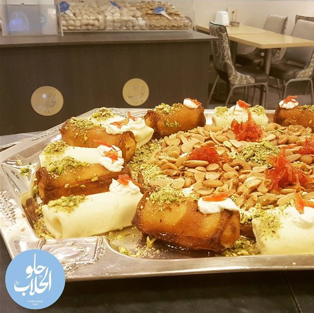 sweetslovers who's ready to indulge in our عثملية exquisite taste of... (Abed Ghazi Hallab Sweets)