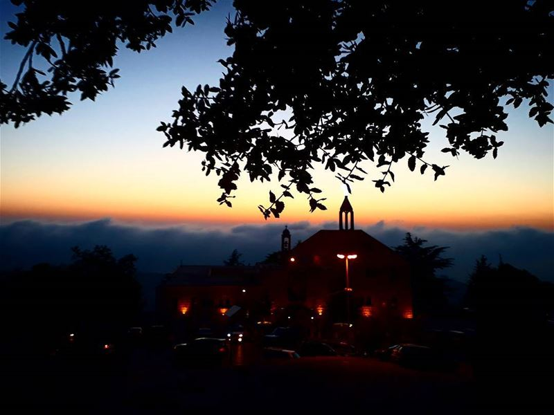 stcharbel 3enneya peace blessings church sunsetlovers horizon ... (Mar Charbel Anaya , Deir Mar Maroun)